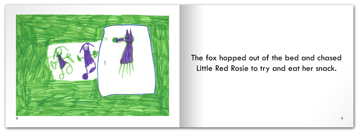 Little Red Rosie went to her Grandma's